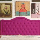 Turin Upholstered Panel Headboard Size: Twin, Upholstery: Magenta