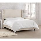 Peoria Upholstered Panel Bed Size: Full, Color: Linen Talc