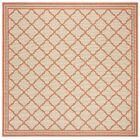 Berardi Cream/Rust Area Rug Rug Size: Square 6'7