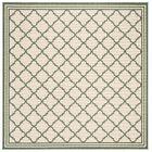Berardi Cream/Green Area Rug Rug Size: Square 6'7