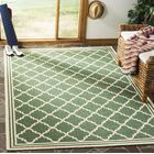 Berardi Green/Cream Area Rug Rug Size: Rectangle 9' x 12'