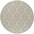 Berardi Cream/Aqua Area Rug Rug Size: Round 6'7