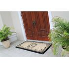 Hedvige Estate Anti Shred Monogrammed Double Doormat Letter: F