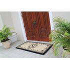 Hedvige Estate Anti Shred Monogrammed Double Doormat Letter: M