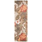 Gustin Brown/Orange Area Rug Rug Size: Runner 2'6
