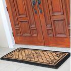Hedvige Entry Monogrammed Double Doormat Letter: X