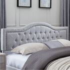 Crosby King Upholstered Panel Headboard and Footboard Color: Light Gray