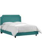 Millgrove Upholstered Panel Bed Color: Linen Laguna, Size: California King