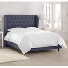 Kingsville Upholstered Panel Bed Color: Twill Navy, Size: California King