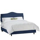 Klein Upholstered Panel Bed Color: Klein Midnight, Size: King
