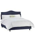Walden Upholstered Panel Bed Color: Regal Navy, Size: King