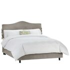 Walden Upholstered Panel Bed Size: Twin, Color: Regal Smoke