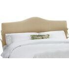 Upholstered Panel Headboard Size: Full, Upholstery: Linen Sandstone