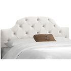 Doyon Tufted Upholstered Panel Headboard Size: Full, Upholstery: Premier White