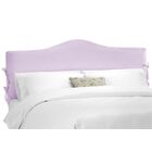 Crimmins Upholstered Panel Headboard Upholstery: Shantung Lilac, Size: King