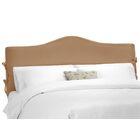 Crimmins Upholstered Panel Headboard Size: Full, Upholstery: Shantung Khaki