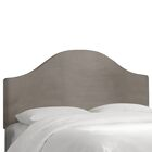 Regal Upholstered Panel Headboard Color: Smoke, Size: Queen