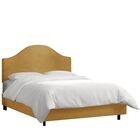 Mystere Upholstered Panel Bed Color: Moccasin, Size: California King