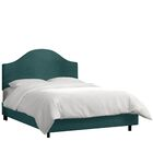 Mystere Upholstered Panel Bed Color: Peacock, Size: Full
