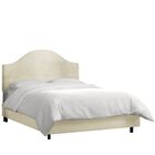 Bloomfield Upholstered Panel Bed Color: Navy, Size: King
