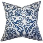 Cernobbio Cotton Throw Pillow Color: Navy Blue, Size: 22