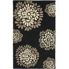 Martha Stewart Hand-Tufted Black Area Rug Rug Size: Rectangle 4' x 6'