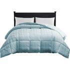 Oakley Down Alternative Comforter Color: Spa Blue, Size: Queen