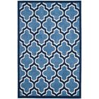 Maritza Light Blue/Navy Indoor/Outdoor Area Rug Rug Size: Rectangle 8' x 10'