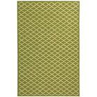 Fullerton Hand-Woven Cotton Olive/Ivory Area Rug Rug Size: Rectangle 3'9