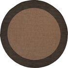 Halsey Checkered Field Cocoa/Black Indoor/Outdoor Area Rug Rug Size: Round 8'6