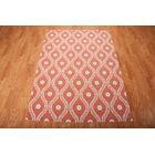 Coyne Rust/White Indoor/Outdoor Area Rug Rug Size: Rectangle 5'3