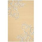 Avalon Vine Hand-Loomed Soft Yellow Area Rug Rug Size: Rectangle 8' x 10'