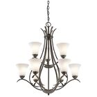 Bourne 9-Light Shaded Shaded Chandelier Finish: Olde Bronze