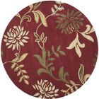 Adkisson Red Floral Area Rug Rug Size: Rectangle 3'6