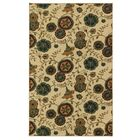 Sisson Beige/Green Area Rug Rug Size: Rectangle 7'6