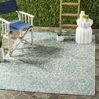 Regal Gray/Aqua Area Rug Rug Size: Rectangle 5'3