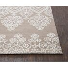 Avoca Hand-Tufted Beige/White Area Rug Rug Size: Runner 2'6