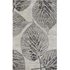 Anders Gray Floral Area Rug Rug Size: Rectangle 2' x 3'