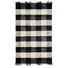 Sauget Hand-Woven Black/Ivory Area Rug Rug Size: 5' x 7'