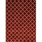Spaulding Burgundy Indoor/Outdoor Area Rug Rug Size: 5' x 7'
