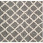 Knoxville Shag Gray/Ivory Area Rug Rug Size: Square 6'