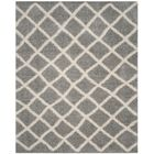 Knoxville Shag Gray/Ivory Area Rug Rug Size: Rectangle 8' x 10'