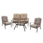 Thompson 4 Piece Sofa Set with Cushions Frame Color: Mocha