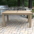 Highlawn Plastic Dining Table Table Top Size: 36'' H x 42'' W x 72 '' L, Color: Tuscan Taupe