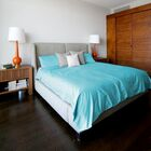 Keith 300 Thread Count 100% Cotton Sheet Set Color: Turquoise/Caicos, Size: Full