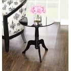 Kreger Acrylic End Table Color: Black