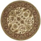 Bromley Hand-Tufted Wool Ivory/Red Area Rug Rug Size: Round 8'