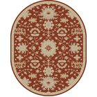 Willard Burgundy/Beige Area Rug Rug Size: Oval 6' x 9'