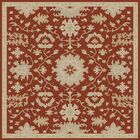 Willard Burgundy/Beige Area Rug Rug Size: Square 9'9