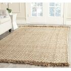 Dombrowski Hand-Woven Bleach/Natural Area Rug Rug Size: Rectangle 11' x 15'